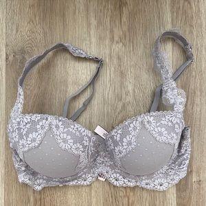 Light grey lace Victoria's Secret bra